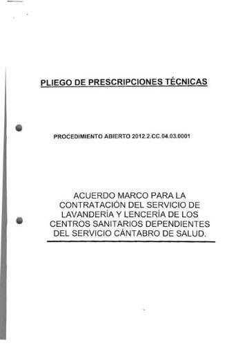 condiciones tecnicas - Sanidad en UGTCantabria