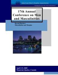 Download the Full Conference Program (pdf) - American Men's ...