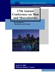 Download the Full Conference Program (pdf) - American Men's ...