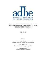2010 - Arkansas Department of Higher Education