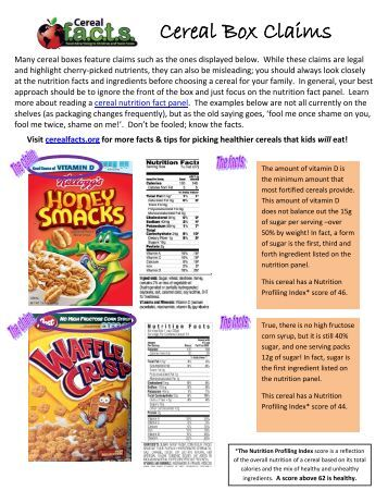 Drop that spoon! The truth about breakfast cereals