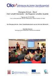 Übergang Schule – Beruf OloV schafft Standards – die Regionen ...