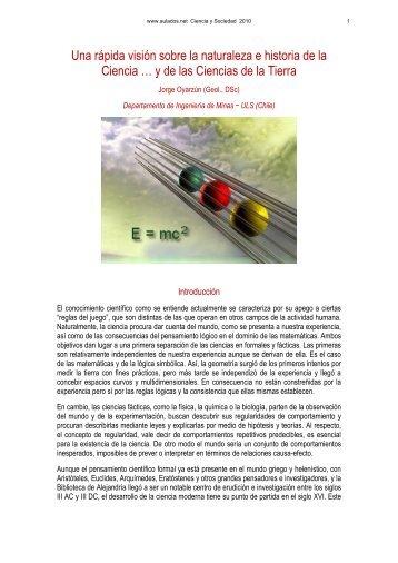 NATURALEZA E HISTORIA DE LA CIENCIA - Aulados.net