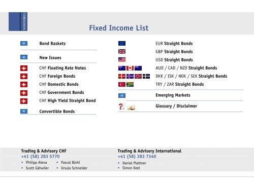 Fixed Income List - Vontobel