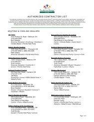 HVAC Contractor List - Firelands Electric Cooperative