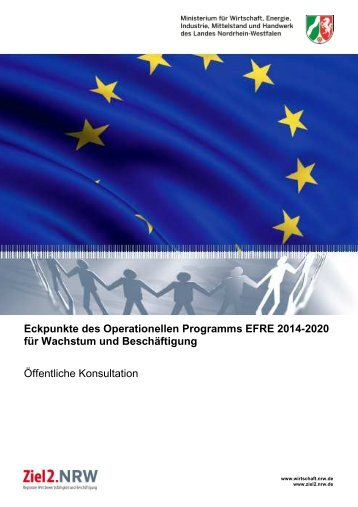 Eckpunkte des Operationellen Programms EFRE 2014 ... - Ziel2.NRW