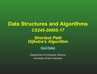 slides - Computer Science - University of San Francisco