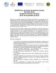 XXXVIII Foro del Clima de América Central (III FCAC 2012) Ciudad ...