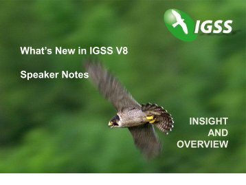 What's New in IGSS V8 Speaker Notes