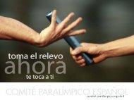 Toma el relevo ahora te toca a ti - Comité Paralímpico Español