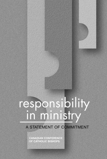 Responsibility in Ministry