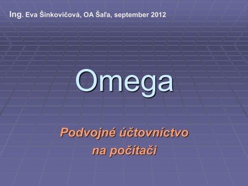 313f09f523d0d Prezentácia programu Omega
