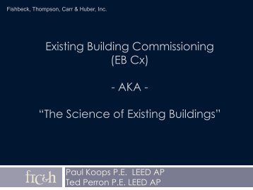 Existing Building Commissioning (EB Cx) - AKA ... - Directrouter.com