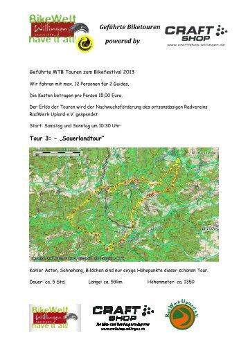Willingen Biketouren.pdf - Bike-Arena Sauerland