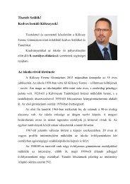 Tájékoztató füzet - Kölcsey Ferenc Gimnázium