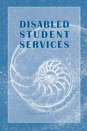 Disabled Student Hdbk - University of West Florida