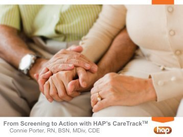 From Screening to Action with HAP's CareTrackTM
