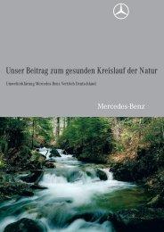 Unser Beitrag zum gesunden Kreislauf der Natur - Mercedes-Benz ...