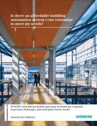 Is there an affordable building automation system I can ... - Siemens