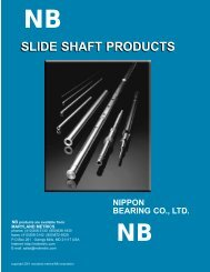 NB Linear Bearing Shafting Overview - Maryland Metrics