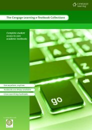 The Cengage Learning e-Textbook Collections