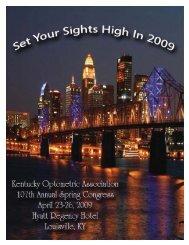 2009 Congress Registration Packet - Kentucky Optometric Association