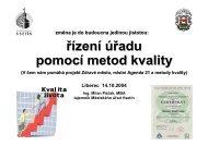 řízení úřadu pomocí metod kvality - Národní síť Zdravých měst ČR