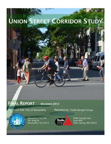 2013-01-08 Union Street Corridor Study Final Report