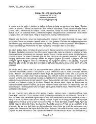 POKAJ SE, JER JA DOLAZIM Page 1 of 7 POKAJ SE, JER JA ...
