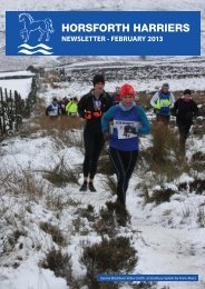 newsletter - february 2013 - Horsforth Harriers
