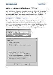 Hurtigt i gang med 'eDocPrinter PDF Pro'...