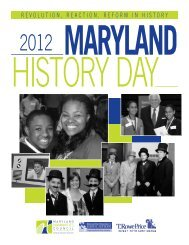 2012 History Day Program - Maryland Humanities Council