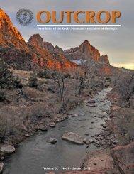 January 2013 - Rocky Mountain Association of Geologists