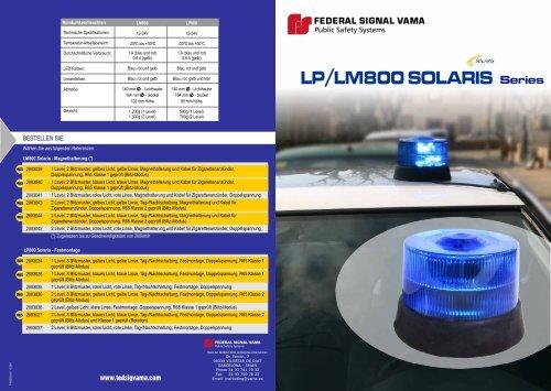LP/LM800 SOLARIS Series - Rauwers GmbH