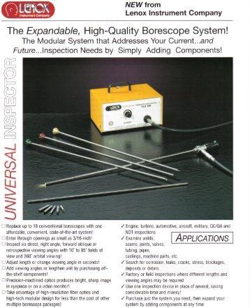 Universal Inspector - Lenox Instrument Company
