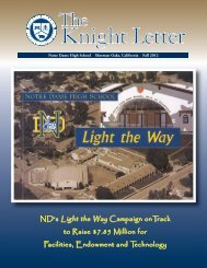 Knight Letter Working Copy for Reference.qxd - Notre Dame High ...