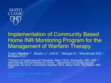 Implementation of Community based Home INR ... - Iua2012.org