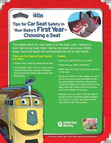 Choosing a Seat - Traffic Safety Marketing