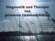 Therapie - Universitäts Kinder- und Jugendklinik Rostock