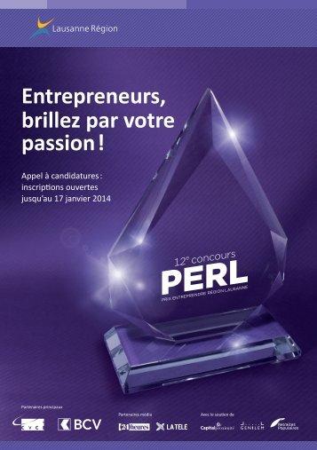 Prix PERL - Lausanne Région