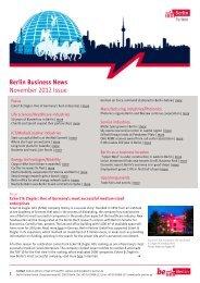 Berlin Business News November 2012 Issue - Berlin Partner GmbH