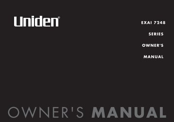 EXAI 7248 SERIES OWNER'S MANUAL - at Uniden