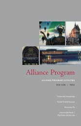 Alliance Program - Columbia University