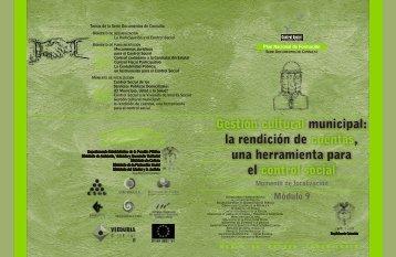 Módulo 9. Gestión cultural municipial