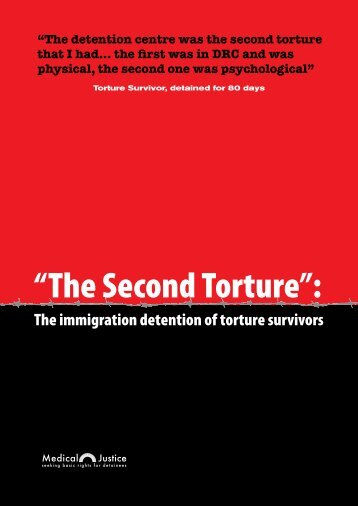 """The Second Torture"": - Justice and Peace Scotland"