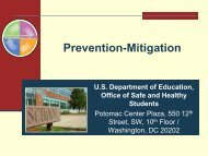 Prevention-Mitigation - Readiness and Emergency Management for ...