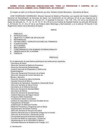 11-30-95 NORMA Oficial Mexicana NOM-022-SSA2-199