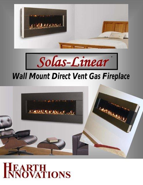 Solas Linear Brochure Hearth Innovations, Solas Gas Fireplace