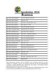 Sprechzeiten 09/10  32314-32 - K 3 - NÖ Mittelschule für WKT