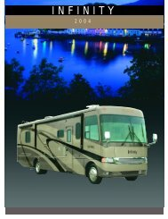 2004 Four Winds Infinity Brochure PDF with Floorplans and Specs